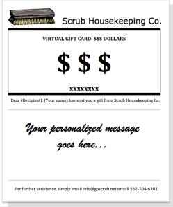Scrub Housekeeping Co. Gift Card