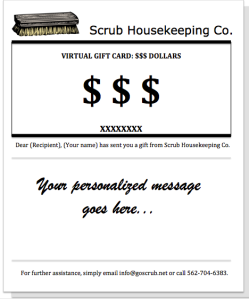 Scrub Housekeeping Co. Gift Card